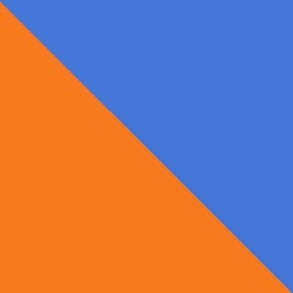 Masque orange et bleu royal